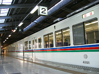 武蔵丘ゆき回送列車側