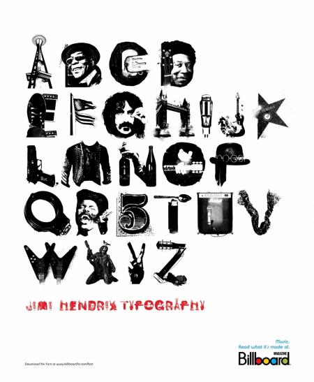 Billboard Typography_Jimi Hendrix