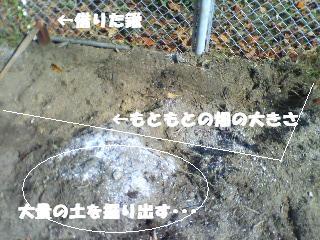 畑を掘り返す。。。2011.11
