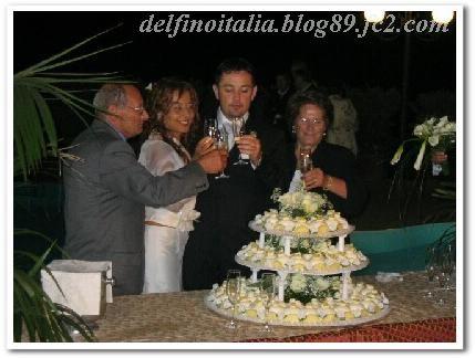 南イタリア結婚式ウェディングケーキ