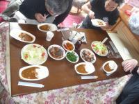 1田植昼食