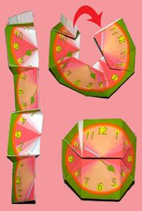 八角形 時計 つくりかた4