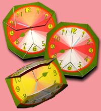 八角形 時計 できあがり例