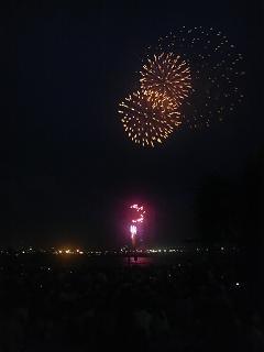 港の花火③