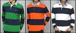polo ラガーシャツ