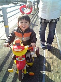 三輪車大好き~