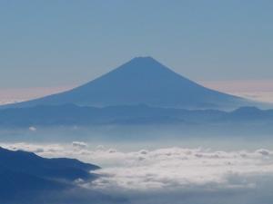 富士、横岳付近