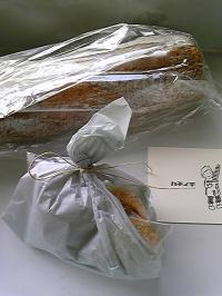 パンとクッキー。
