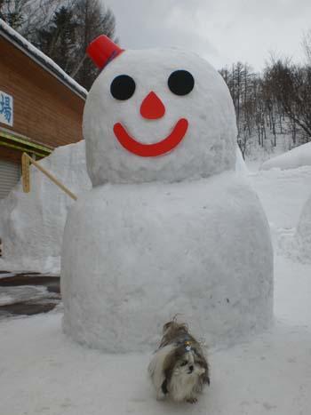 雪ダルマが有りました