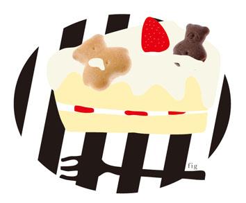 くまビスケーキ