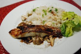 洋風鯛飯+鯛のソテーバルサミコソース