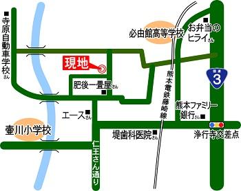 コアマンション坪井オープンハウス案内地図