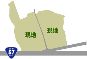 阿蘇市黒川敷地図