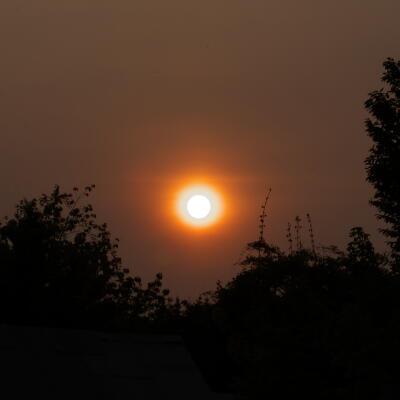 オレンジ色の太陽