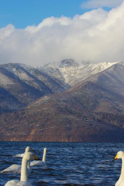 藻琴山(雪雲に包まれて)