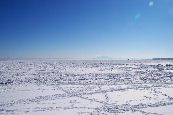 流氷と知床半島