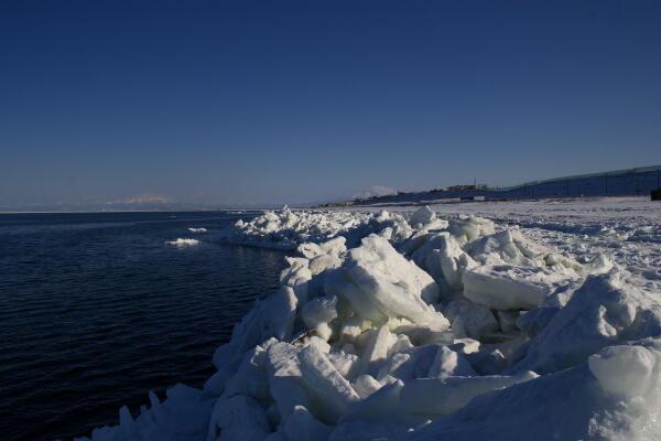 知床と流氷山