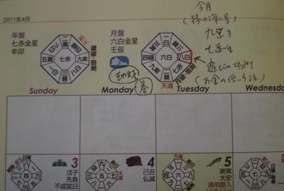 キラキラ手帳4月