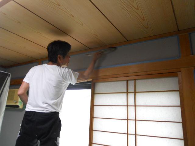 和室壁塗り替工事