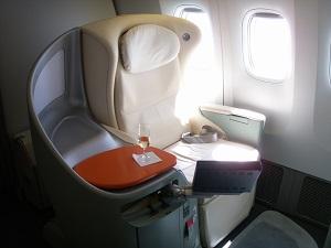 JAL・ファーストクラス座席
