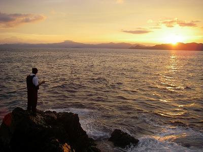 蓋井島の朝まずめ