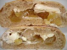 りんごのジャムとクリームチーズ断面