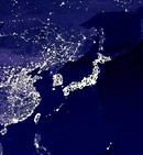 衛星写真夜景
