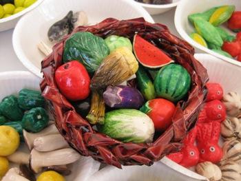 陶器まつり 野菜籠