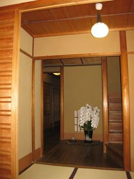 天ぷら えんどう 玄関