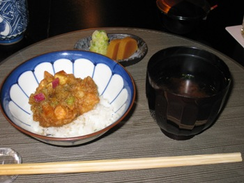 天ぷら えんどう かきあげ 味噌汁