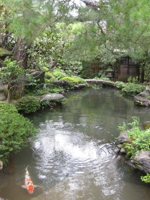並河靖之邸庭池