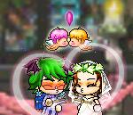 さるs結婚式 誓いのキス