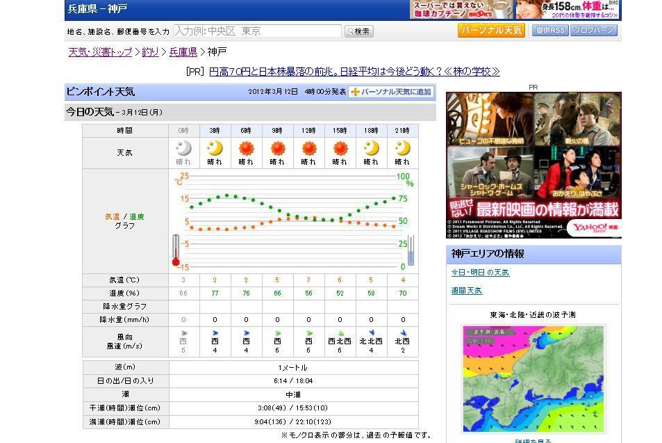 3月12日天気図