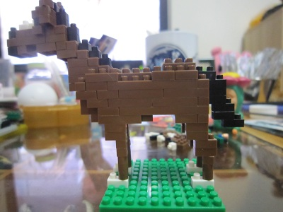 馬(横から)