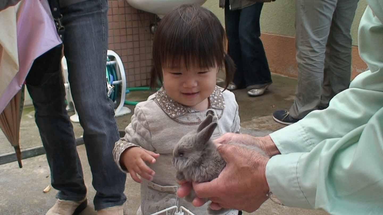 ウサギさん、いい子いい子