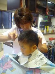 マナト散髪