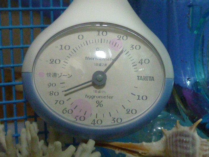 温度・湿度計入れて見た♪