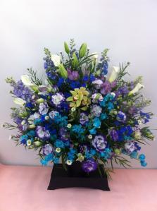 ブルー系お供え花