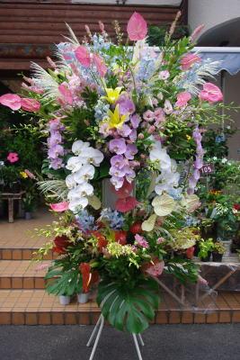 巨大スタンド花