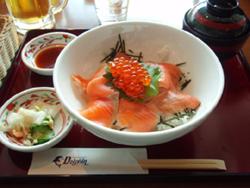 鮭とイクラの親子丼☆
