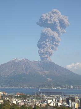 桜島・噴煙