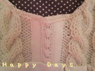 ニット編みなチュニックあっぷ