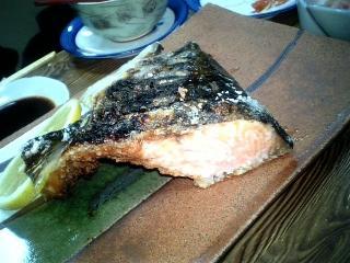 鮭カブト焼