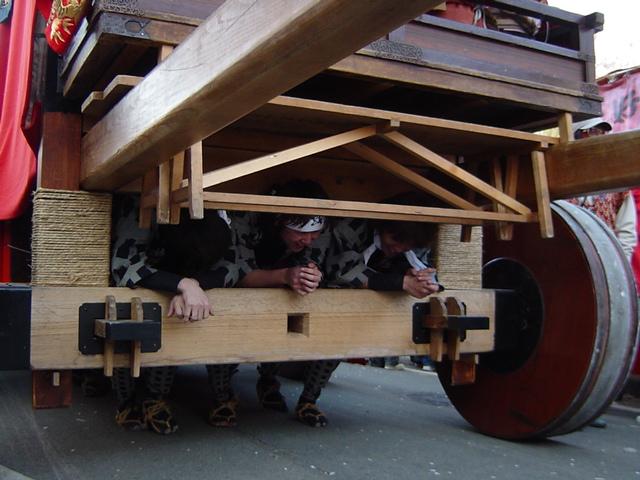 犬山祭り車輪軸