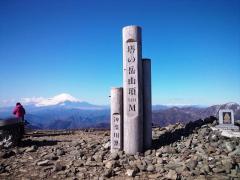 頂上と富士山