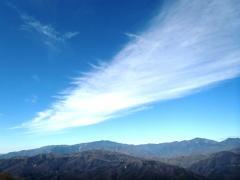 見晴らし台からの秩父山脈