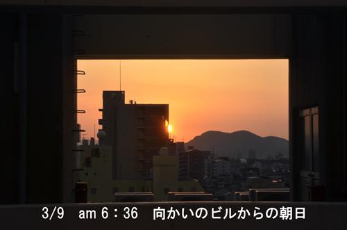 11・ホテルからの朝日