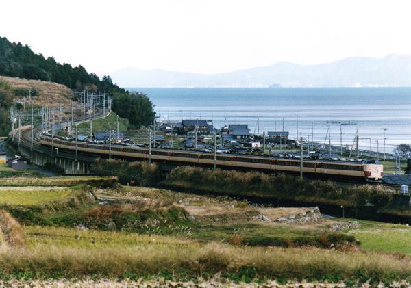 B485系回送:北小松-近江高島