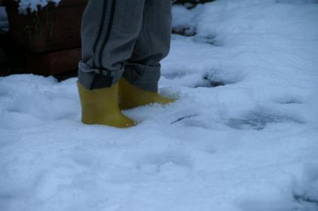 雪。。。びしょびしょ。。。笑