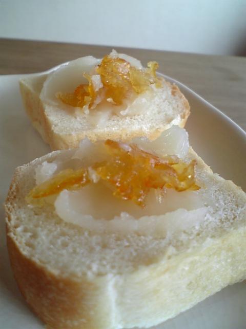 白餡とオレンジスライス